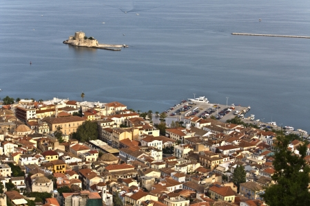 arkadia: Nafplio city at Peloponnese, south Greece  Stock Photo