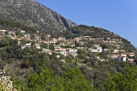 ionio: Village of Katochori at Lefkada island in Greece Stock Photo