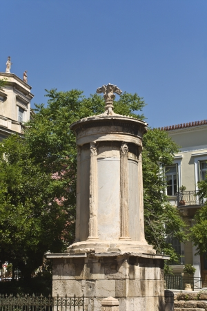 Lysikrates monument at Plaka, Athens, Greece