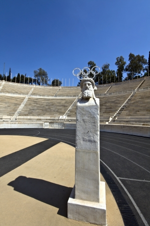 Panathenaic stadium in Athens, Greece photo