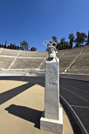 Panathenaic stadium in Athens, Greece Editorial
