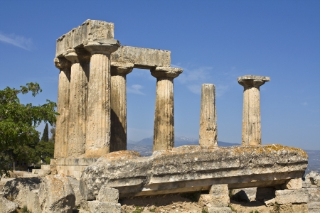 peloponnise: Ancient Corinth, Peloponnesus, Greece  Stock Photo