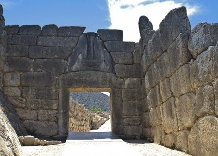 peloponnise: Ancient Mycenae, Peloponnesus, Greece  Stock Photo