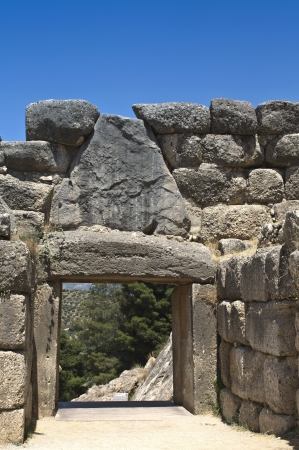 arkadia: Ancient Mycenae, Peloponnesus, Greece  Stock Photo