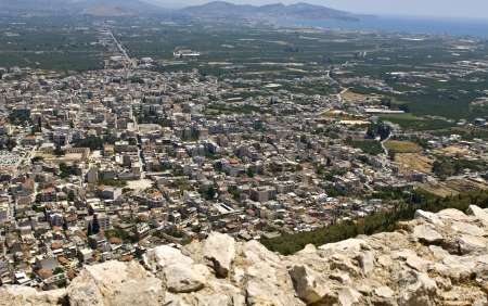 arkadia: Argos city of Greece  view from the Larissa castle Stock Photo