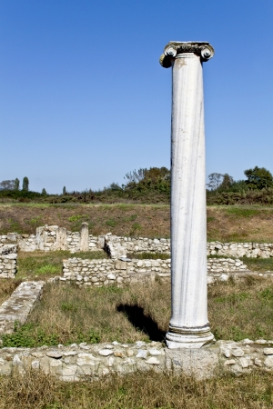 Temple of Dionysus ruins found at Dion in Greece photo