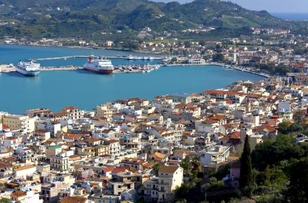 chora: Zakynthos island at the ionian sea in Greece Stock Photo