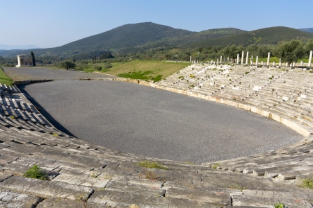 peloponnise: Ancient Messene near Kalamata city in Greece  Stock Photo