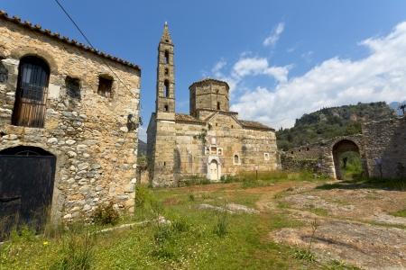 peloponnise: Old Byzantine era village of Kardamyli at Mani, Greece Stock Photo
