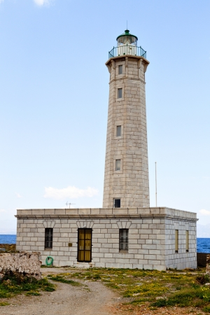 peloponnise: lighthouse at Kranay island of Gytheio city in Greece
