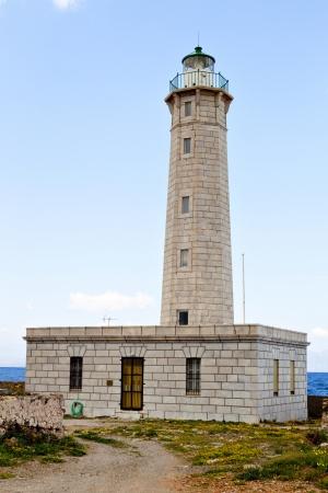 peloponnise: lighthouse at Kranay island of Gytheio city in Greece