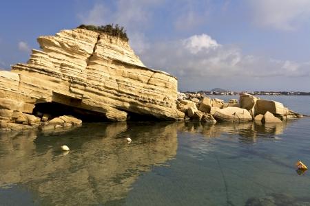 Laganas beach at Zakynthos island in Greece