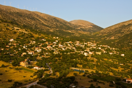 kefallinia: Tradiotinal Greek village at Kefalonia island