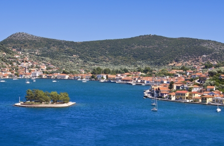 ionio: Vathi bay at Ithaki island in Greece