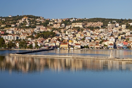 kefallonia: City of Argostoli at Kefalonia island in Greece