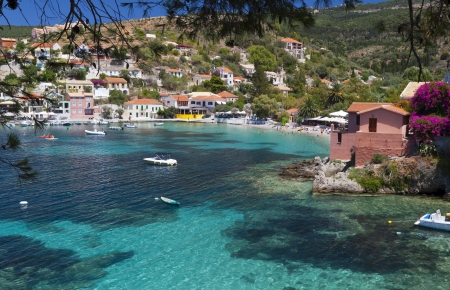 kefalinia: Village of Assos at Kefalonia island in Greece