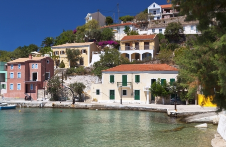 Traditional village of Assos at Kefalonia island in Greece