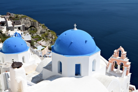 Oia village of Santorini island in Greece photo