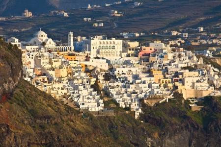 kyklades: Santorini island in Greece  Fira city view