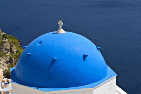 kyklades: Santorini island in Greece  Village of Oia
