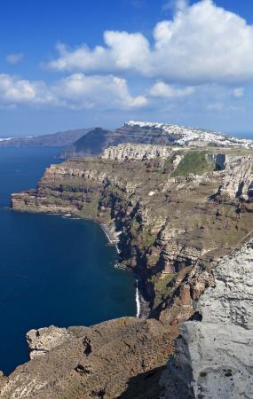 Santorini island in Greece photo