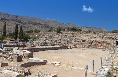 kreta: Ancient Minoan palace of Kato Zakros at Crete island in Greece