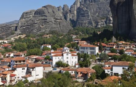 thessalia: Kastraki village at Meteora peaks in Greece