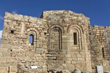 basillica: Lindos acropolis, Rhodes island, Greece Stock Photo