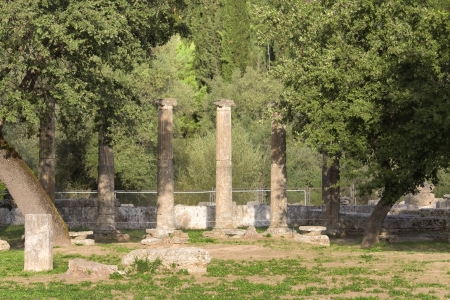 peloponissos: Ancient Olympia in Greece Stock Photo