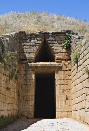 peloponissos: Treasury of Atreus at Mycenae, Peloponnesus, Greece Stock Photo