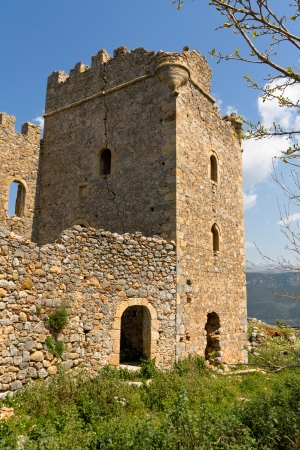 mani: Castle of Zarnata at Mani, Greece