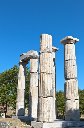 Temple of the Great Gods at Samothraki island in Greece photo