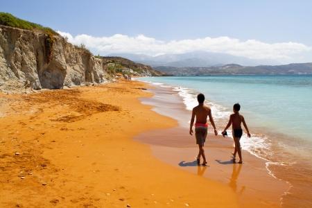 kefallonia: Scenic beach at Kefalonia island in Greece
