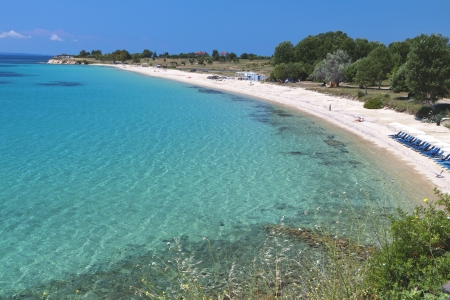 Agios Ioannis beach at Halkidiki peninsula in Greece photo
