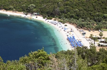 kefallinia: Scenic beach at Kefalonia island in Greece