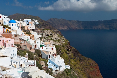 Santorini island in Greece  Village of Oia photo