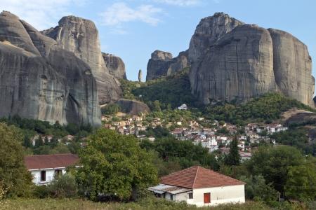 kalambaka: Kastraki village at Kalambaka city in Greece Stock Photo