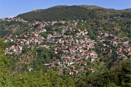 arkadia: Lagadia Greek traditional village at Arkadia in Greece  Stock Photo