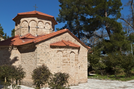 arkadia: Church of Agia Lavra at Kalavryta village in Greece
