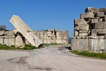peloponnise: The Arcadian gate at ancient Messene in Greece
