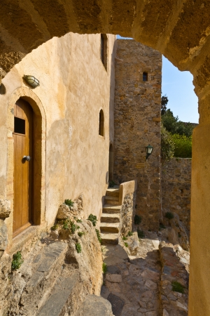 peloponnise:  Medieval fortified village of Monemvasia in Greece