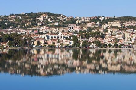 kefallinia: Argostoli city at Kefalonia island in Greece