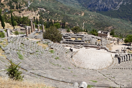 Ancient Delphoi in Greece photo