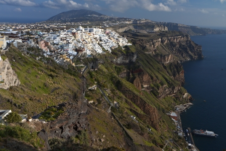 fira: Fira city at Santorini island in Greece