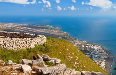 kyklades: Landscape of Santorini island in Greece