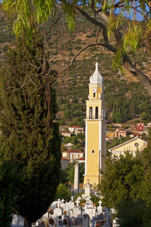 kefallinia: Traditional Greek orthodox church found at Faraklata village of Kefalonia islandin Greece Stock Photo