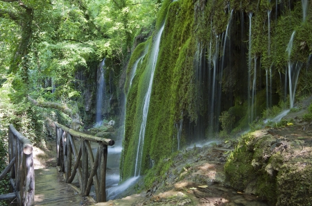 Tropical scenery of Skra waterfalls at north Greece  Stock Photo - 15945681