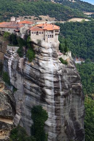 thessalia: Orthodox, monastery at Meteora peaks in Greece