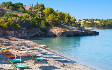kefallonia: Scenic beach at Kefalonia in Greece Stock Photo