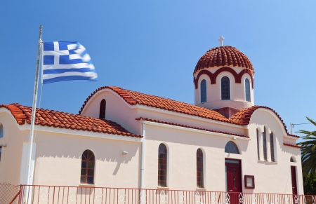kefallonia: Traditional church at Kefalonia island in Greece